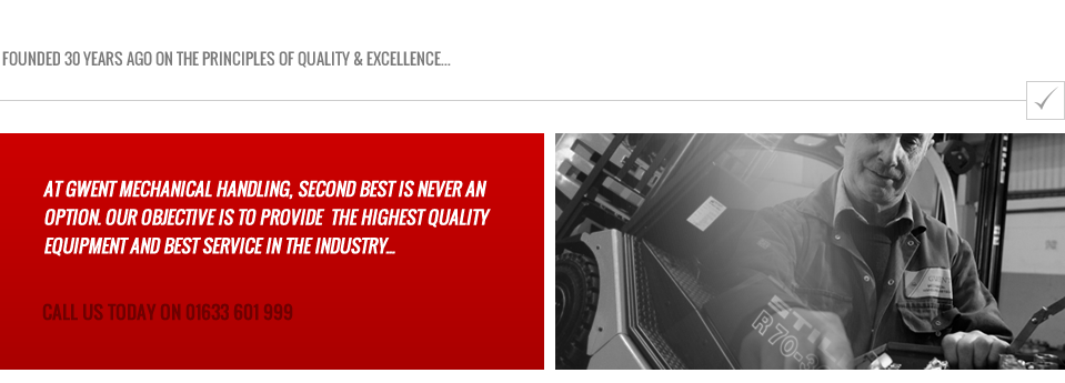 Quality Assured Used Forklifts by Gwent Mechanical Handling